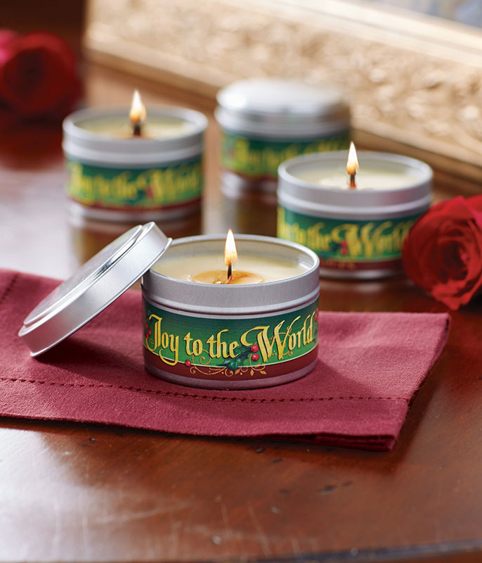 Christmas Rose Christmas Candle