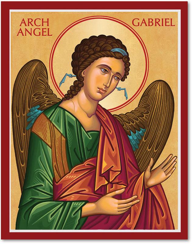 Cretan-Style Archangel Gabriel Icon