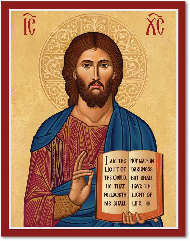 Cretan-Style Christ the Teacher Icon
