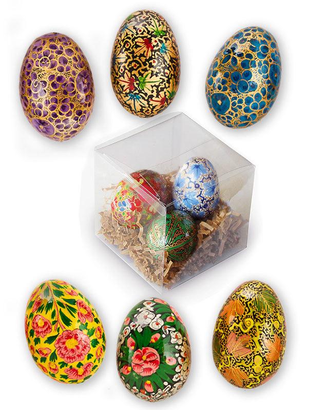 Decorative Wooden Egg Set
