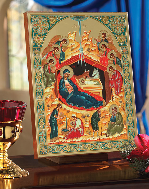 Deluxe Embossed Russian Nativity Icon