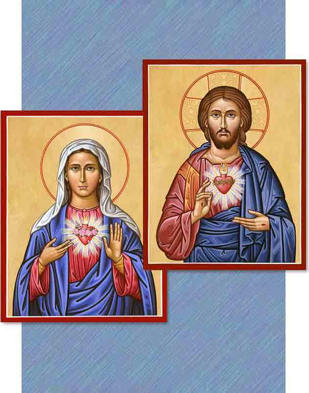 discounted christ mary icon pair 572