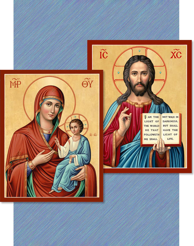 Discounted Pair—Christ the Lightgiver & Virgin Mary Directress