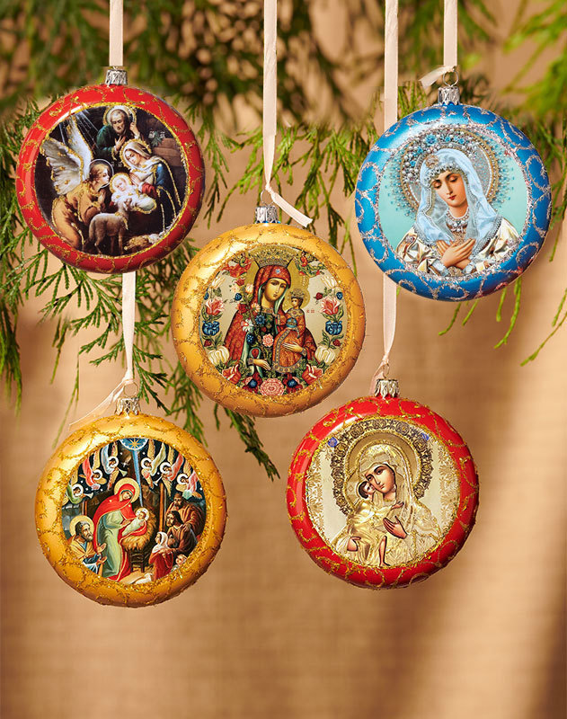 Discounted set of 3 medallion ornaments