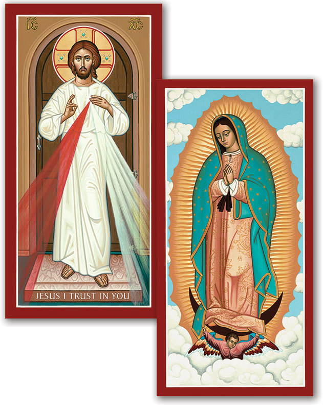 Discounted pair: Divine Mercy & Guadalupe