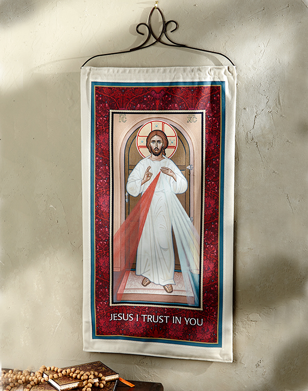 ON SALE Divine Mercy Wall Hanging, medium