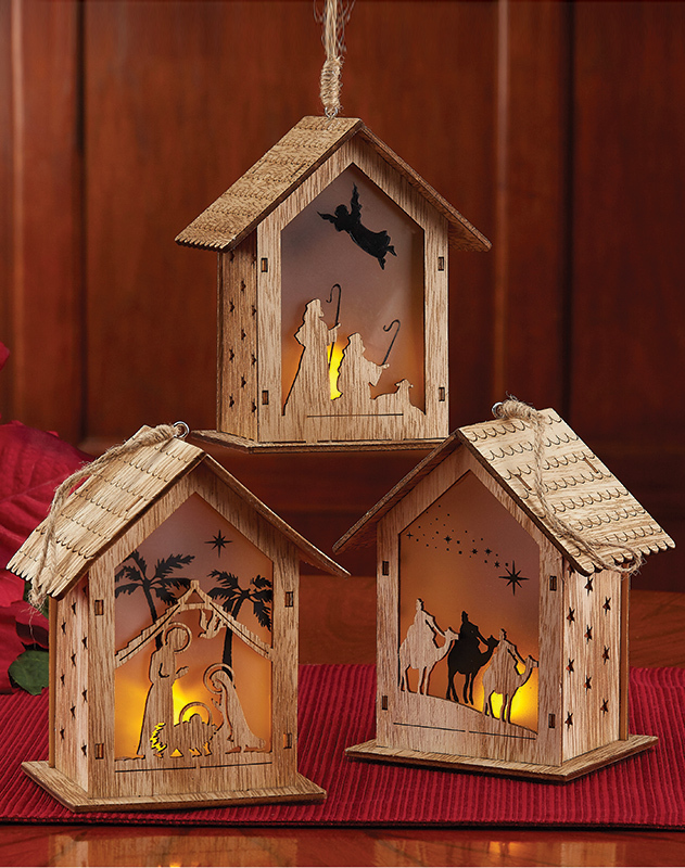 Flickering House Ornaments