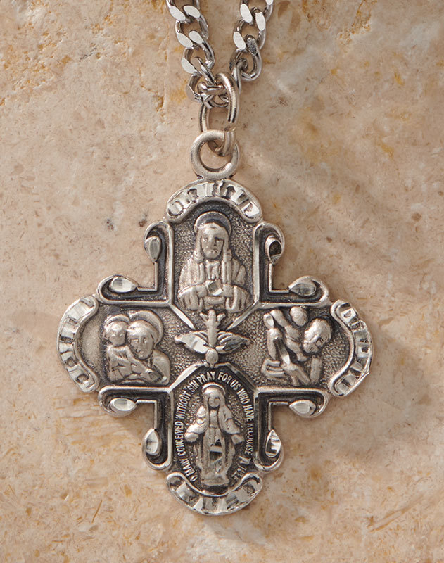 Four-Way Medal sterling silver