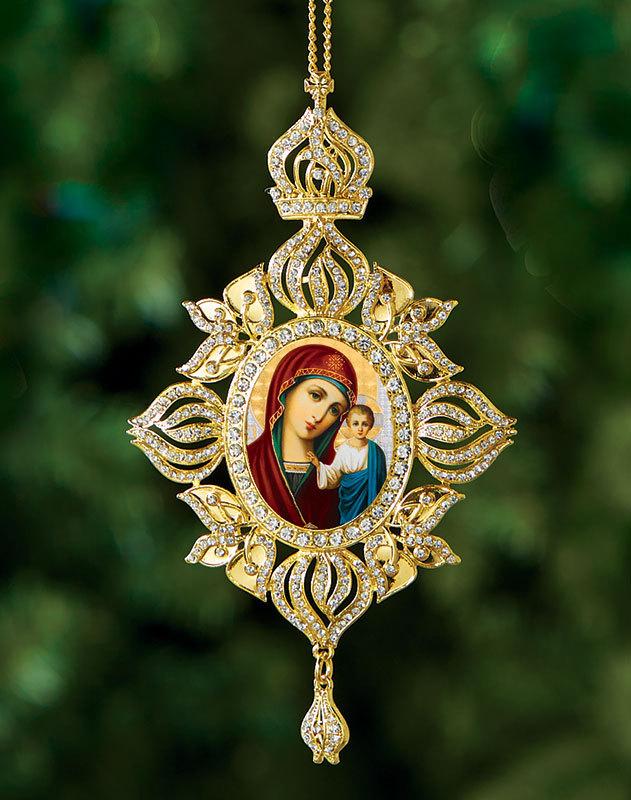 Russian Madonna Heirloom Icon Ornament