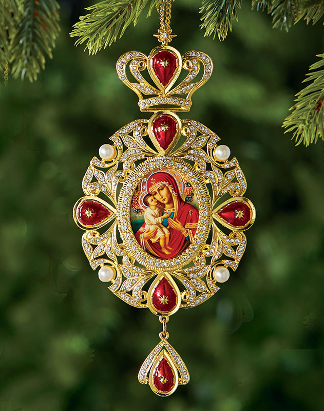 Mary Eternal Bloom Heirloom Icon Ornament