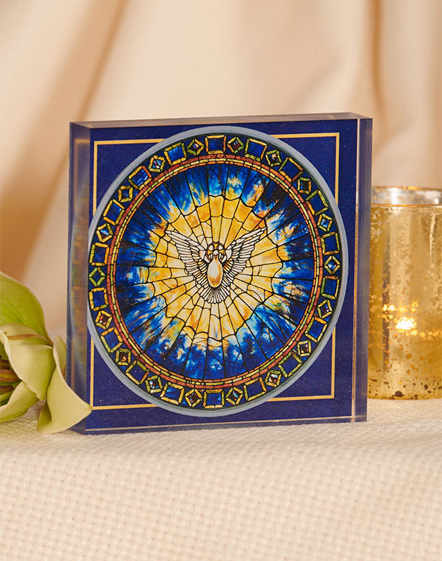Tiffany Holy Spirit Acrylic Glass Desktop Icon