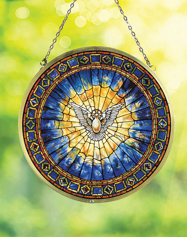 Holy Spirit Glass Suncatcher