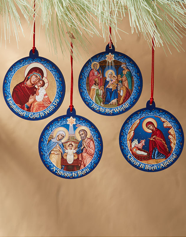Icon Medallion Ornament Set