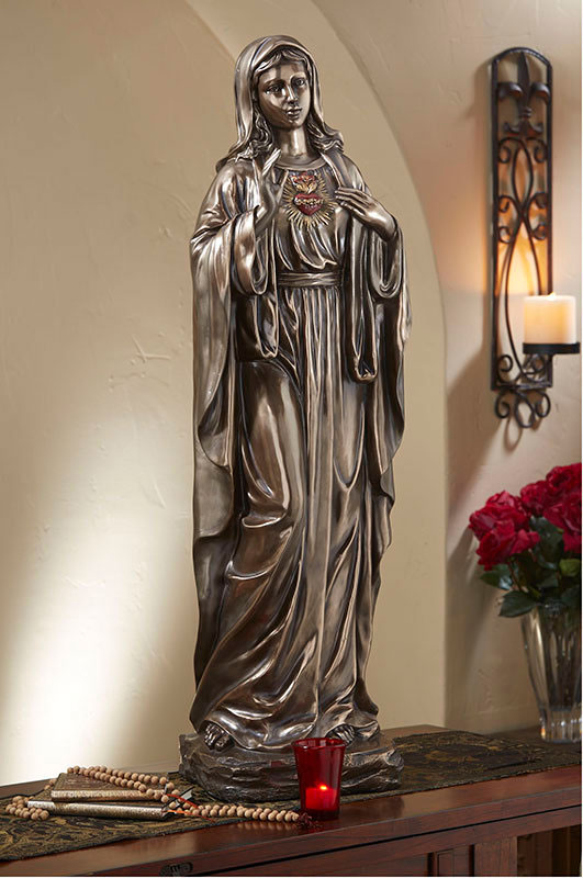 Immaculate Heart Brzoned Statue
