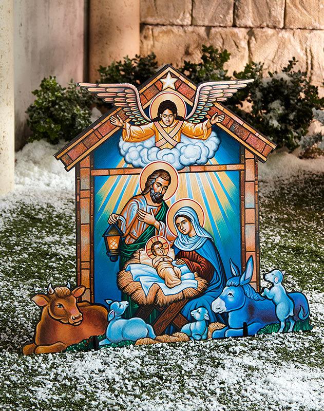 Indoor-Outdoor Nativity Display