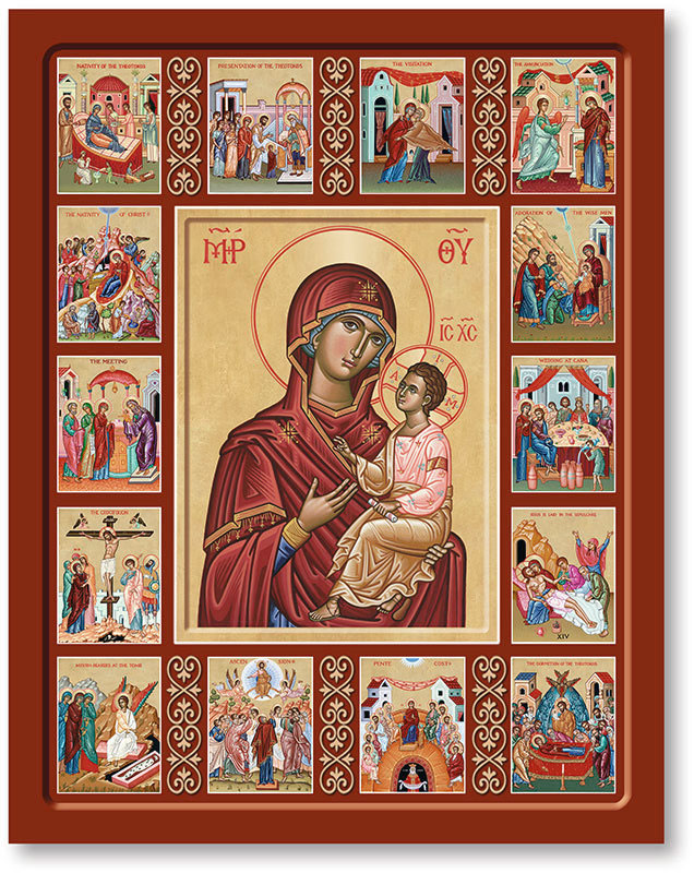 Life of the Virgin Mary Icon