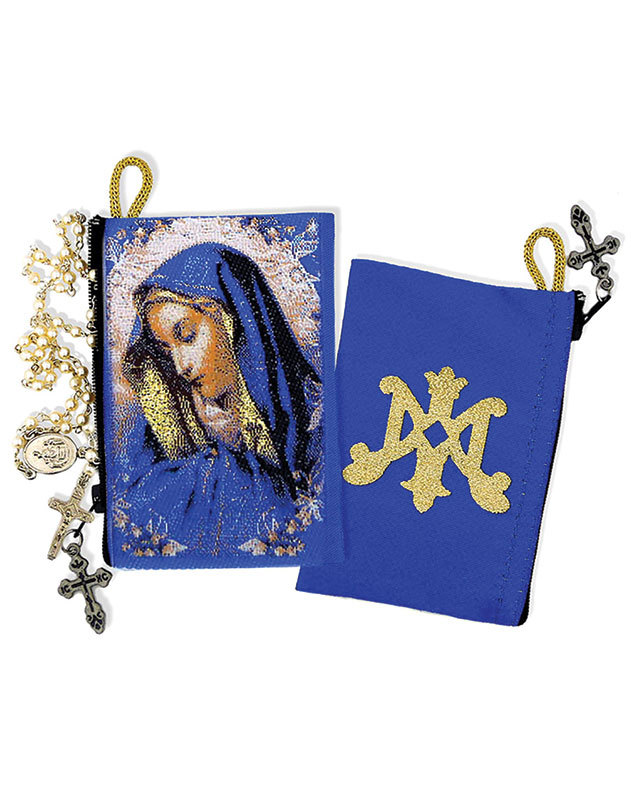 Madonna Rosary Pouch