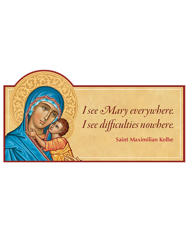 Mary Everywhere Magnet