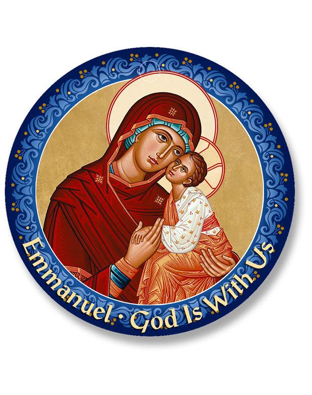 Madonna and Child Christmas Magnet