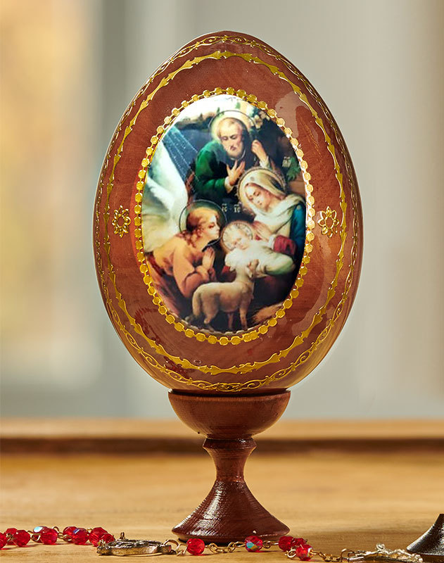Nativity Icon Egg Medium