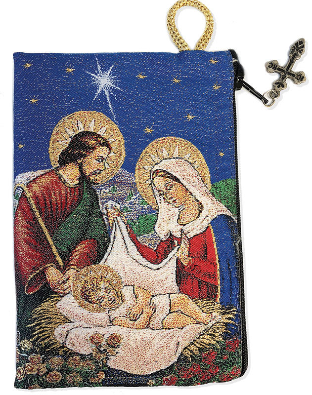 Nativity Icon Rosary Pouch