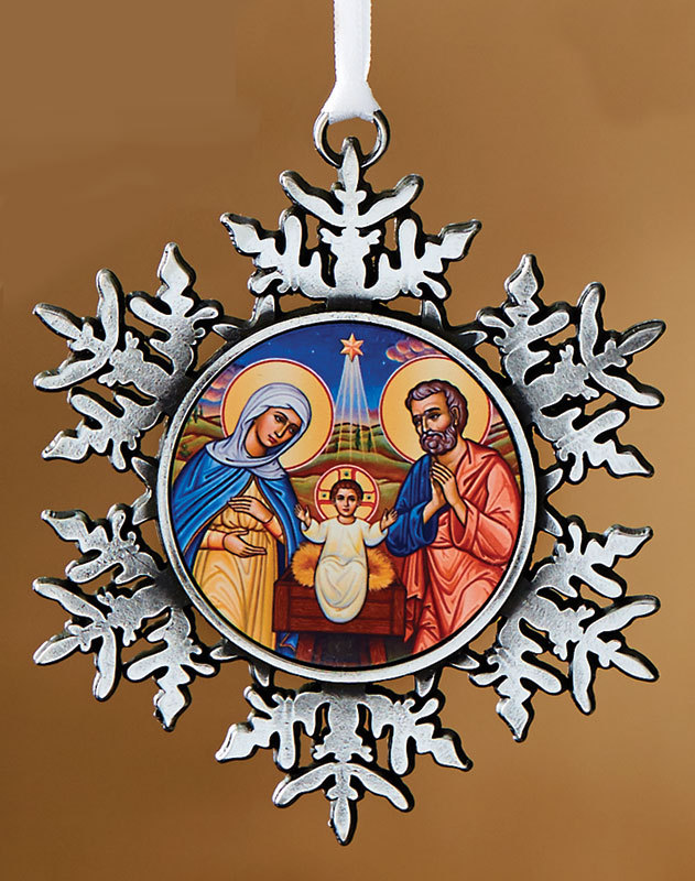 Nativity snowflake ornament