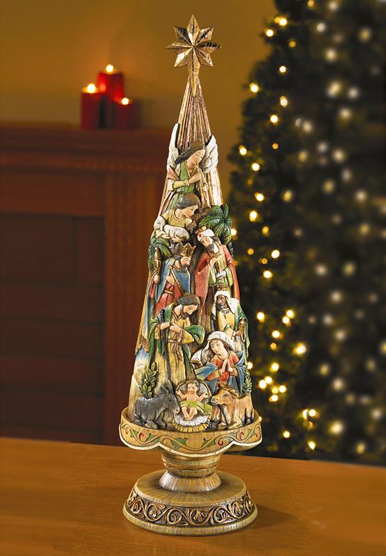 Christmas Figurines 30 Inch Nativity Tree Figurine Monastery Icons