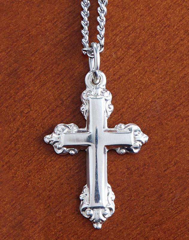 Ornamental Sterling Silver Cross