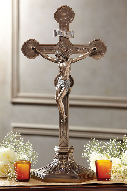 Ornate Standing Crucifix
