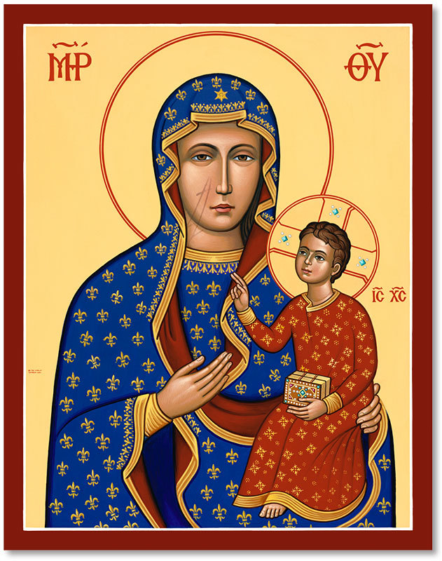 "Our Lady of Czestochowa Original Icon 20"" tall"