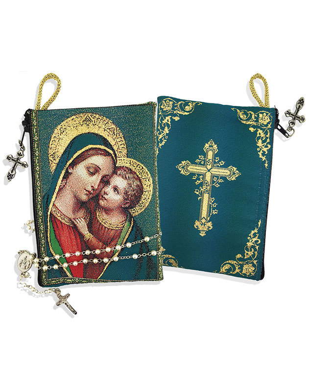 Our Lady of Good Counsel Rosary Pouch