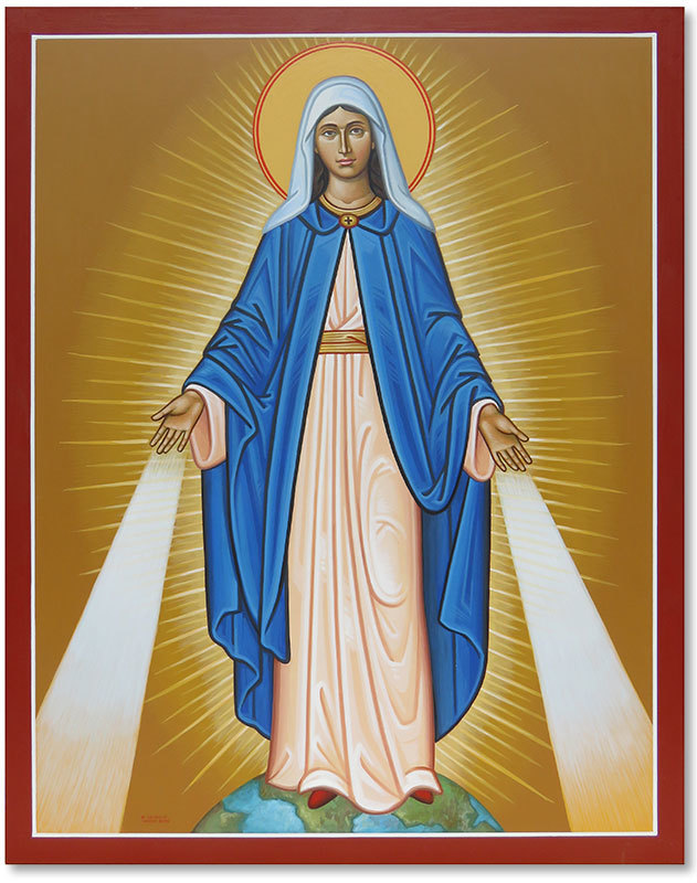"Our Lady of Grace Original Icon 20"" tall"