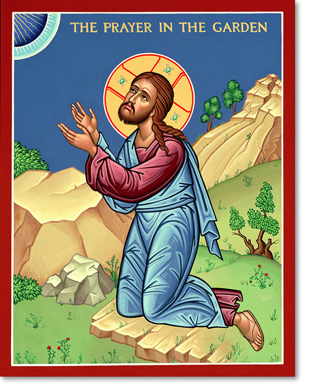 "Prayer in the Garden original icon 20"" tall"