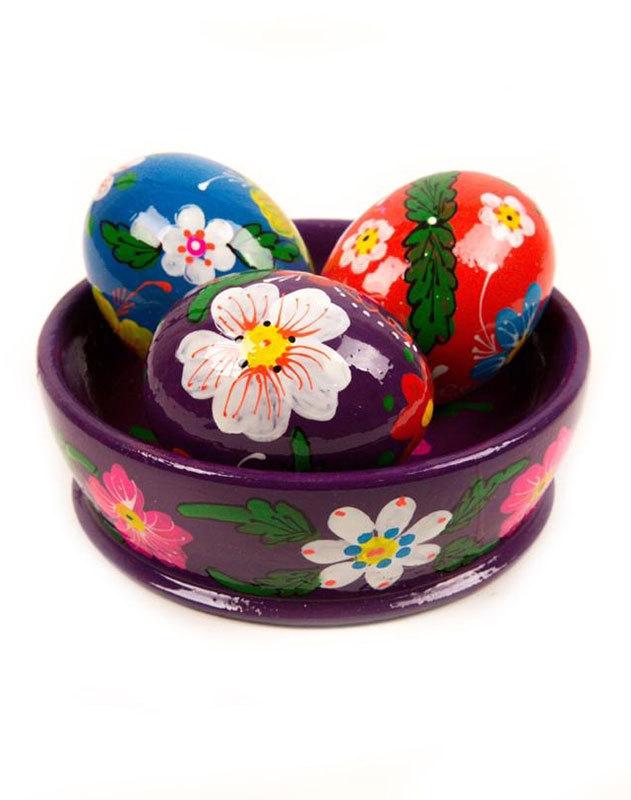 Purple Easter Eggs Basket