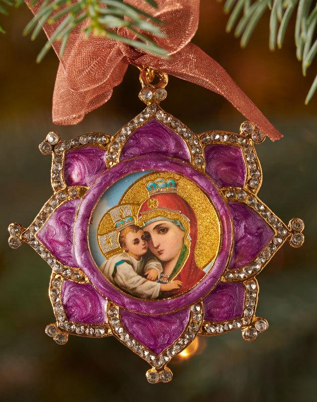 Queen of Heaven Enamelled Ornament