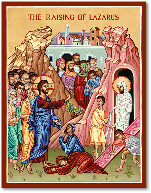 Raising of Lazarus Icon