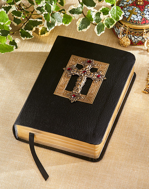 Red Crystal Compact Jeweled KJV Bible