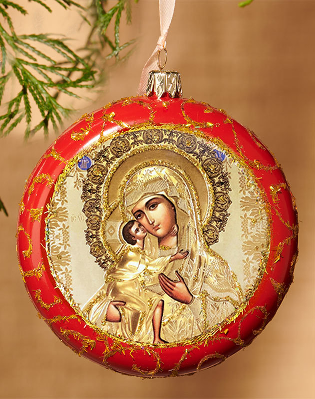 Red ornament -Virgin of Tenderness