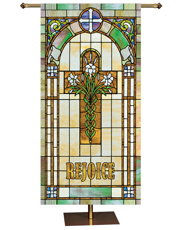 ON SALE Rejoice Cross Banner