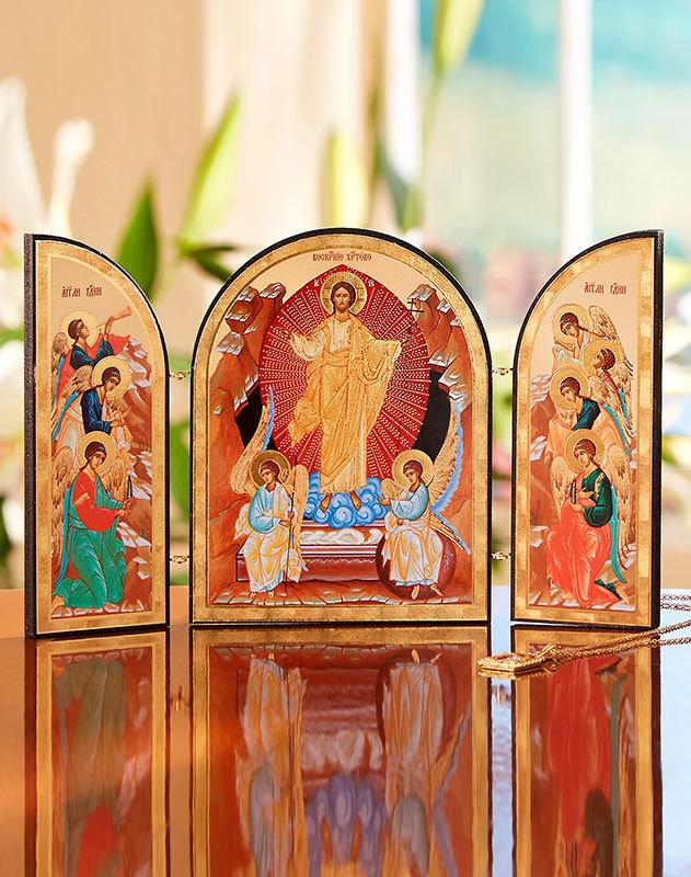 Resurrected Christ Triptych