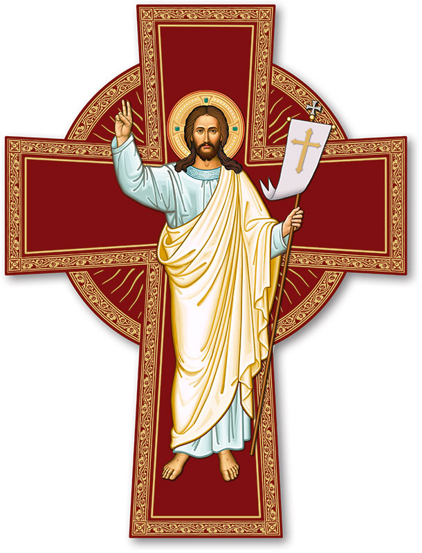 Risen Christ Cross Magnet