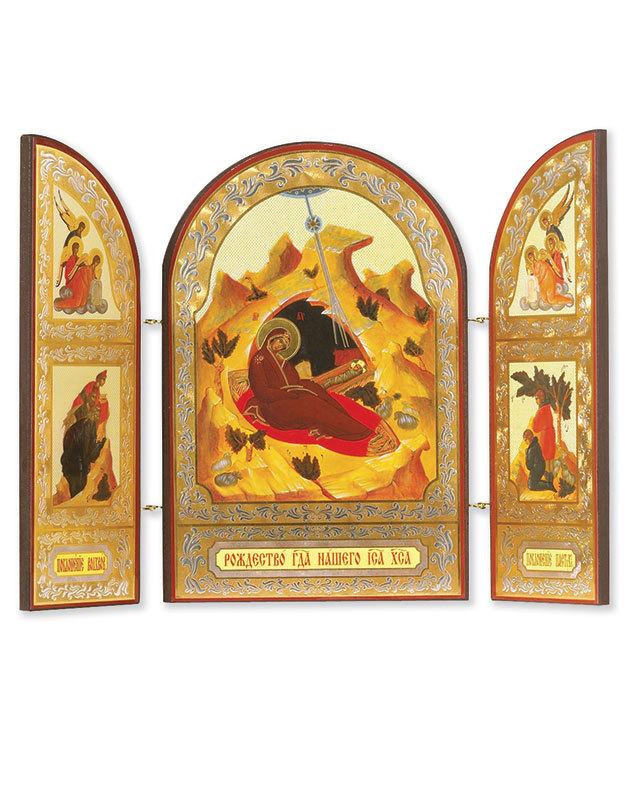 Russian Nativity Triptych