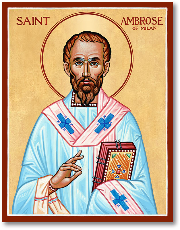 Saint Ambrose Icon
