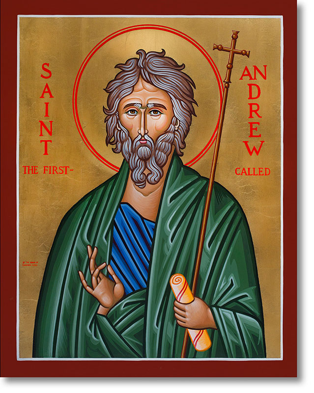 "Saint Andrew original icon 20"" tall"