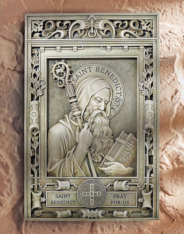 Saint Benedict plaque - portrait
