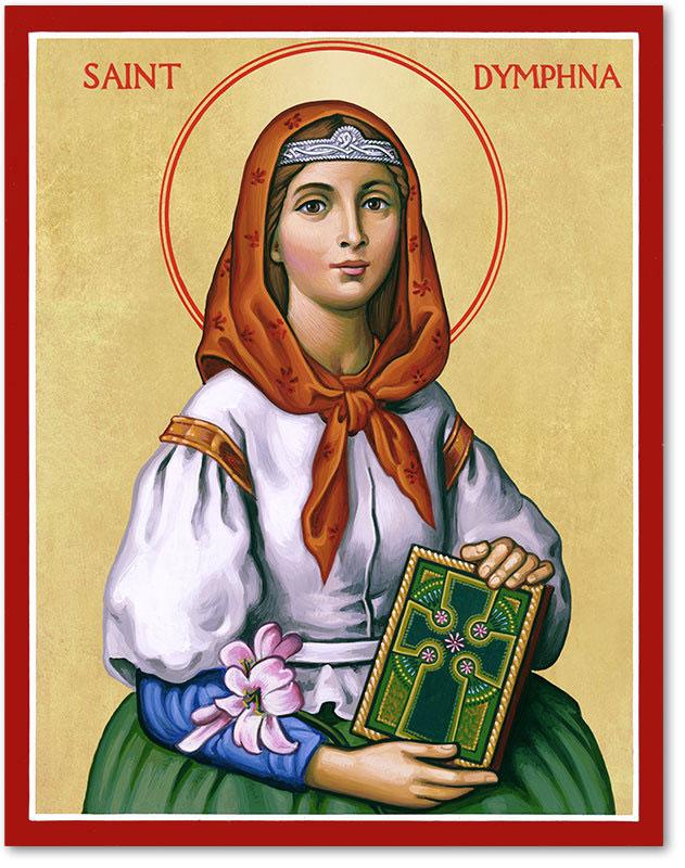 Saint Dymphna Icon