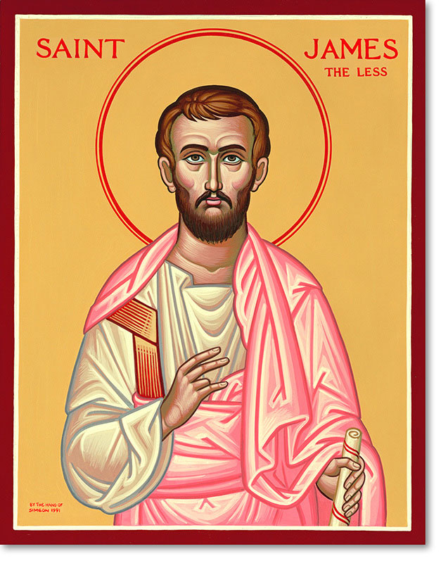 "Saint James the Less original icon 14"" tall"