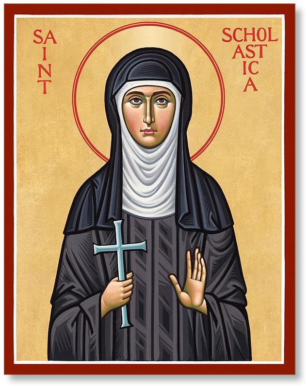 Saint Scholastica Icon