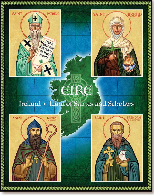 Saint Finnian icon Irish Saint icon Saint Finian Clonard Celtic Saint icon Celtic Patterns icon St Finnian Clonard Irish Monasticism