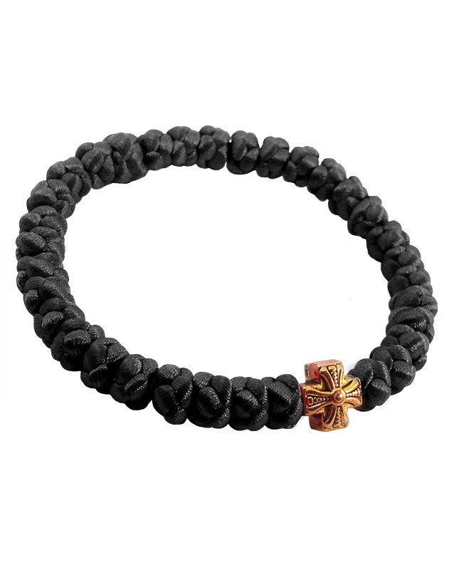 Satin prayer bracelet - black